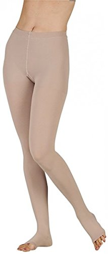 Juzo 2002ATFL06 II Soft 30-40 mmHg Open Toe Pantyhose Standard Compression Stockings with Fly - White44; II - Small by Juzo