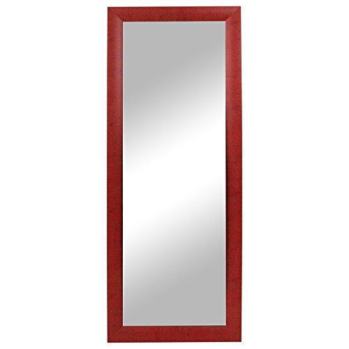 Flurspiegel Wandspiegel Garderobenspiegel Barspiegel Frisierspiegel 131x51cm - Rot meliert