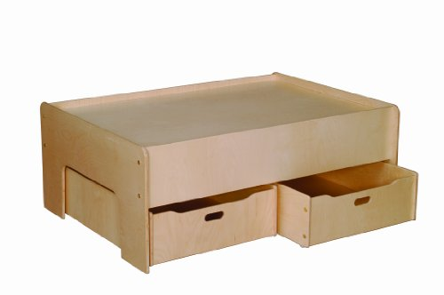 (Little Colorado Play Table and Storage Drawers, Natural)