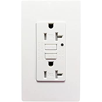 Night Light Wall Outlet - SECKATECH 20 AMP Wall Receptacle ...
