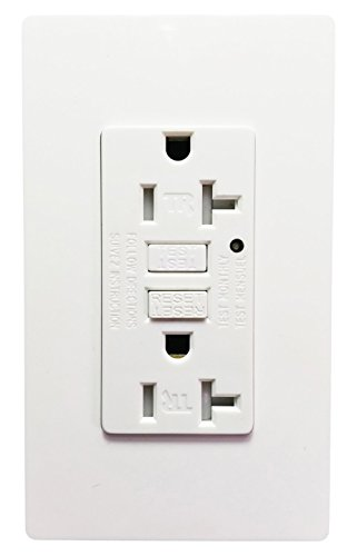 seckatech GFCI Outlet-20A-02 20 Amp 125V Tamper-Resistant GFCI Wall Outlet Perfect for Your Daily Life Play, Its Great Mission, Receptacle, White