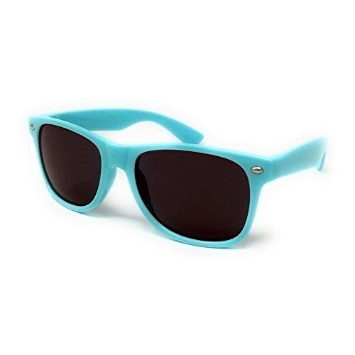 protection de noires unisexe UV400 solaire Lunettes Ciel soleil unisexe style wayfarer lentilles avec Bleu zfnq6X4