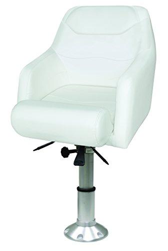 (Wise 8WD1205-13-784 Premium Flip-Up Bolster Bucket Seat with Air-Powered Adjustable Height Pedestal, Cuddy Bright)