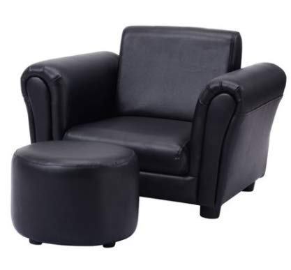 Kids Small Recliner Chair Rocker Glider Nursery-Black Upholstered Ottoman Relaxing Comfort Your Little Ones