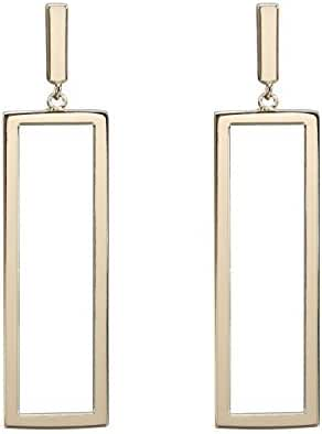 LILIE&WHITE Women Oblong Metal Geometric Rectangle shape Drop Dangle Earrings For Women