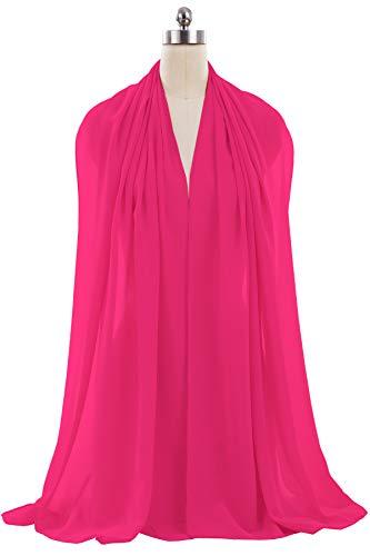 ANTS Women's Chiffon Bridal Evening Dresses Shawl Wraps Color Hot Pink Size 18