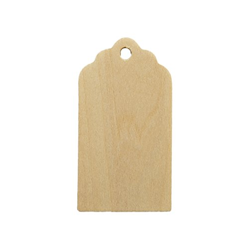 Wooden Gift Tags 3 inch tall, 1-5/8 inch width, 1/8 inch thick. Bag of ()