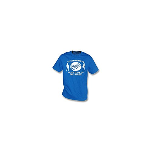PunkFootball Wenn es war nicht für Vögel und Schnäpse… Das Gers-T-Shirt, Farbe- Königsblau