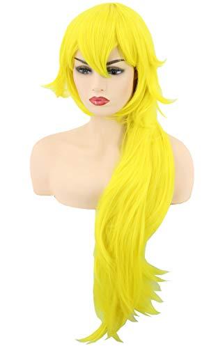 Topcosplay Princess Peach Cosplay Wig Long Wavy Yellow Halloween Costumes Wigs 32 inch