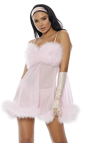 Forplay Women's Femme for Real Sexy Movie Character Costume, Baby Pink, ()