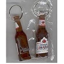 Molson Canadian Bottle Shaped Beer Bottle Opener Keychain New