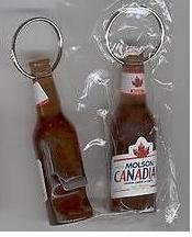 molson canadian bottle shaped beer bottle opener keychain new kitchen dining. Black Bedroom Furniture Sets. Home Design Ideas
