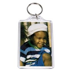 Acrylic Photo Snap-in Key Chain - 1 3/4 X 2 3/4'' (Pack of 25)
