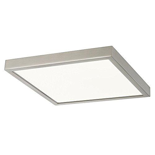 Flat LED Light Surface Mount 10-Inch Square Satin Nickel - Wall Flat Satin Lamp Nickel