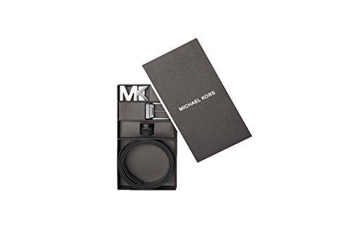 Michael Kors Mens Four in One Logo Belt Box Set Black (Michael Kors Mens Belt)