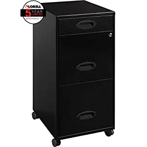 amazon com lorell 17427 3 drawer mobile file cabinet 18 17427 | 31iuptm5cpl sy300 ql70