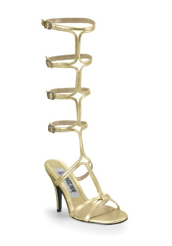 [Funtasma by Pleaser Women's Roman-10 Sandal,Gold Pu,10 M US] (Halloween Costumes 4 Heel)