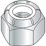 1 3/8-6 Nylon Insert Hex Lock Nut Zinc, Pkg of 10