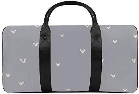 メタルブルーの骨の心1 旅行バッグナイロンハンドバッグ大容量軽量多機能荷物ポーチフィットネスバッグユニセックス旅行ビジネス通勤旅行スーツケースポーチ収納バッグ