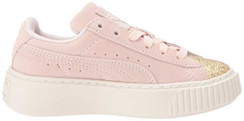 Pictures of PUMA Kids' Suede Platform Glam Sneaker Pink 36492207 3