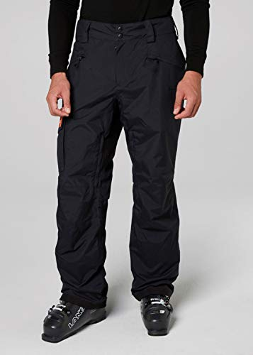 Helly Hansen Ski Pants - Helly Hansen Mens SOGN Insulated Cold Weather Cargo Ski Pants, Black, Small