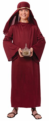 Burgundy Wiseman Child Costume (Forum Novelties Biblical Times Shepherd Burgundy Costume Robe, Child)