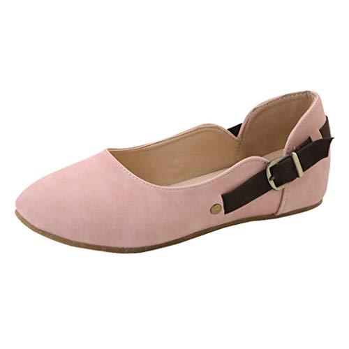 Primavera scarpe Fibbia Donna Grandi Scamosciato Estate Eleganti Pink Mocassino Cintura Pantofole Confortevole Ballerine Basse Dimensioni On Loafer Sandali Con Slip xvBwAAES
