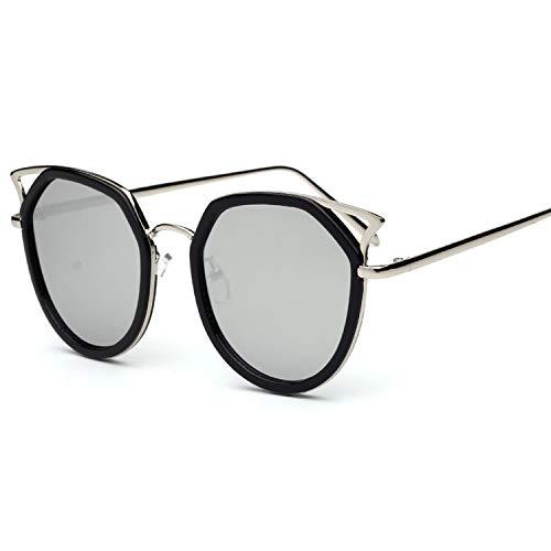 - cat eyes sunglasses mixed new ladies frog mirror men's sunglasses tide sunglasses,C9 white mercury