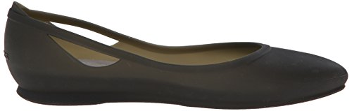Crocs Rio Flat W - Talón Cerrado de Sintético Mujer Nero (Black/Platinum)
