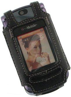 Napa Genuine Premium Leather Fitted Carrying Cover Case - (OEM Original ) W/Swivel Belt Clip fits T-Mobile Motorola RAZR V8 - Napa Premium