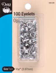 Dritz Bulk Buy Eyelet Refills 5/32 inch 100 Pack Nickel 104-65 (6-Pack) by Dritz