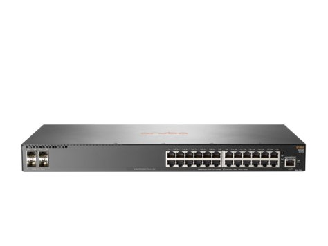 HP JL253A Aruba 2930F 24G 4SFP+ - Switch - L3 - managed - 24 x 10/100/1000 + 4 x 1 Gigabit / 10 Gigabit SFP+ (uplink) - rack-mountable by HP