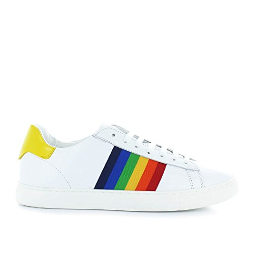 été 2018 New Jaune Chaussures Baskets Femme Blanc Tennis Dsquared2 Printemps w8Tpq8