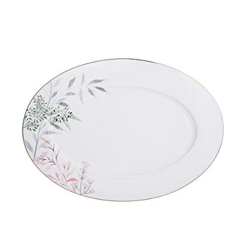 Mikasa Alaya Bone China Oval Serving Platter, 14-Inch