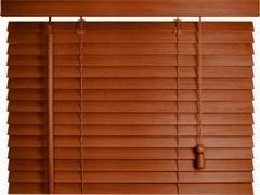 Interdeco Holzjalousien in Kirschbaum mit 50 mm Lamellen, 90 x 220 cm