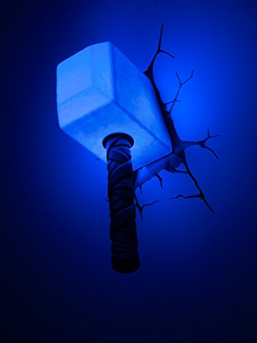 3d light fx marvel thor hammer 3d deco led wall light for Lampe decoration murale 3d marteau thor