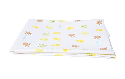 Large Waterproof Flannel Diaper Changing Mat Pad,31.5 X 26.5 Inch (Bear and Duck/Cotton Flannel)