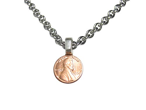 Kiola Designs Tiny One Cent Penny Coin Pendant Necklace