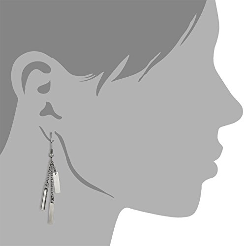 Amello bijoux en acier inoxydable - Amello boucles d'oreilles en acier inoxydable trois barres - pour femmes - ESOS83J