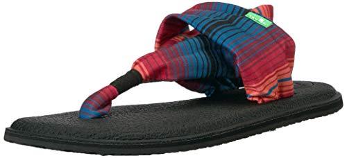 Sanuk Women's Yoga Sling 2 Sandal, Black Multi Fad, 6