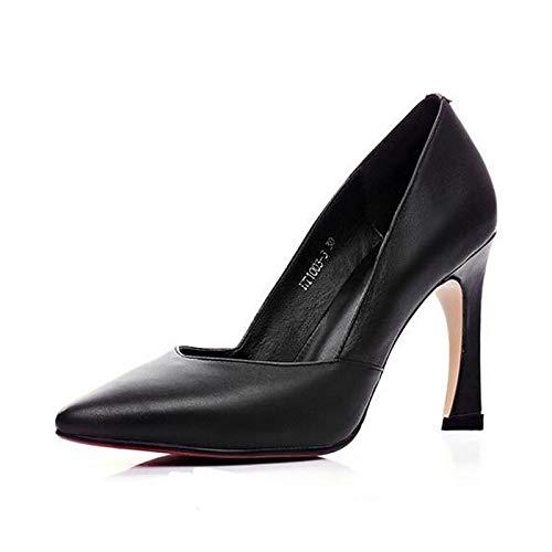 Negro Rojo Verano Talón Mujer De Stiletto Nappa Black Cuero Tacones Comodidad Zapatos QOIQNLSN vqw6BqA