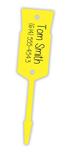 (YELLOW - Large Arrow Key Tags/ID Tags Light Weight Economy Tags - Size: 5