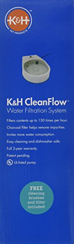 K H Manufacturing K H Pet Products CleanFlow Cat Filtered Water Bowl for Cats