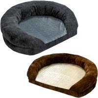 (K H Cozy Soft, Warm, Washable Ortho Bolster Dog Bed - Large / Brown)