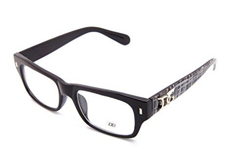 Black Men Rectangular clear lens fashion glasses - optical quality - Glasses Frames Dg