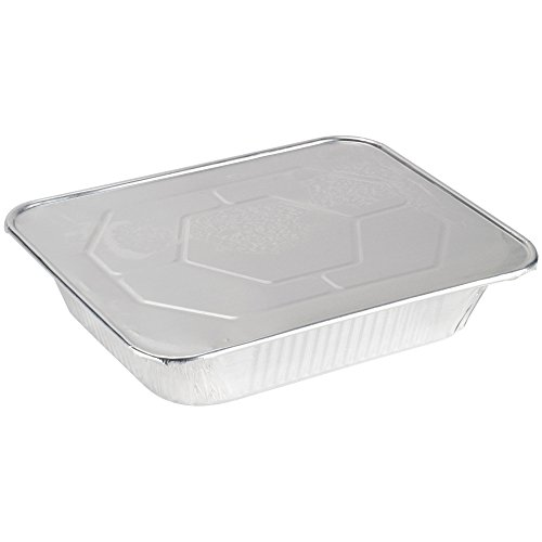 A World of Deals 9 X 13 Half Size Deep Foil Steam Pans with Lids 10 Pack
