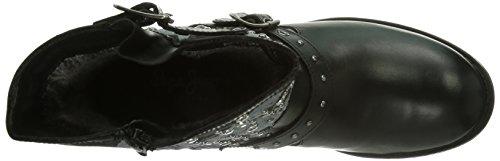 Pepe Jeans Pimlico Flag - Botas estilo motero de cuero mujer negro - negro