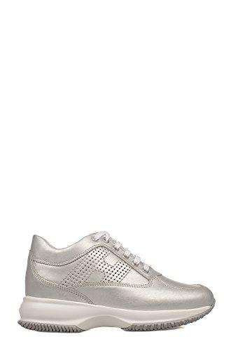 Hogan Women's HXW00N00E30I6EB200 Silver Leather Sneakers discount visit RrOGqYeX