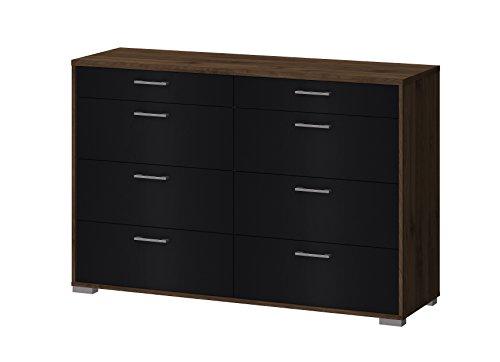Tvilum 70165djgm Homeline 8 Drawer Double Dresser, Walnut/Black (Eight Drawer Double Dresser)