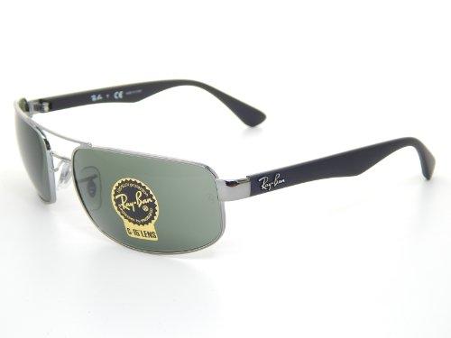 New Ray Ban RB3445 004 Gunmetal/Gradient Gray Lens 61mm Sunglasses